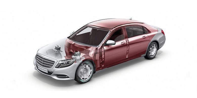 Rangka Mercedes-Benz S600 Guard dirancang untuk mengatasi ancaman dari segala sisi termasuk kolong mobil.