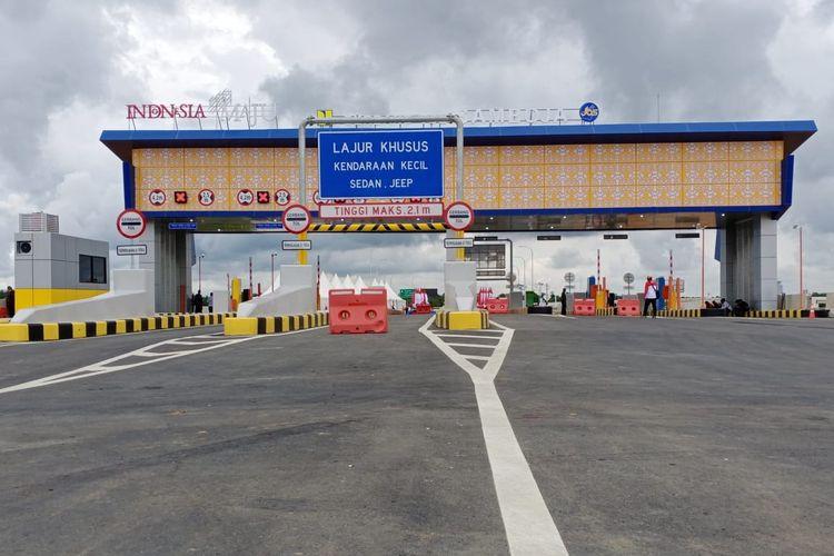 Kondisi Gerbang Tol Samboja, bagian dari Jalan Tol Balikpapan-Samarinda