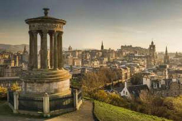 Salah satu kastil di Edinburgh, Skotlandia.