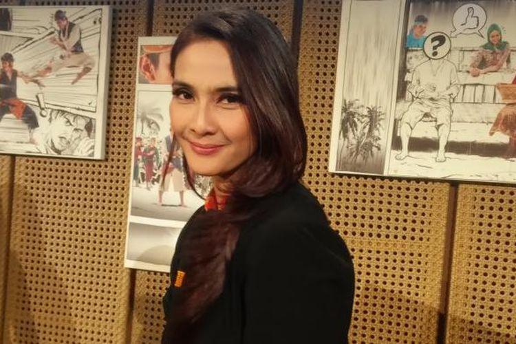 Maudy Koesnaedi diabadikan usai konferensi pers sandiwara Betawi berjudul Jawara: Langgam Hati dari Marunda di Galeri Indonesia Kaya, Jakarta Pusat, Kamis (15/10/2015) sore.