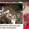 Viral Sedekah Nasi Dibuang di Tempat Sampah, Begini Ceritanya