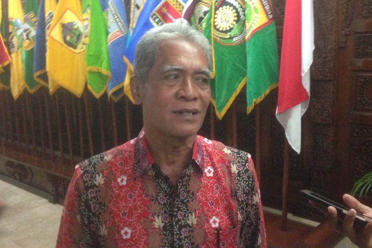 Kepala Badan Penanggulangan Bencana Daerah Jawa Tengah Sarwa Pramana, di kantor Gubernur Jateng, Jumat.