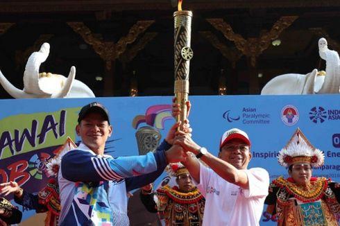 Kirab Obor Asian Para Games 2018 Singgah di Bali
