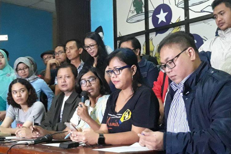 Konferensi pers terkait kasus Robertus Robet di kantor YLBHI, Jakarta Pusat, Kamis (7/3/2019).