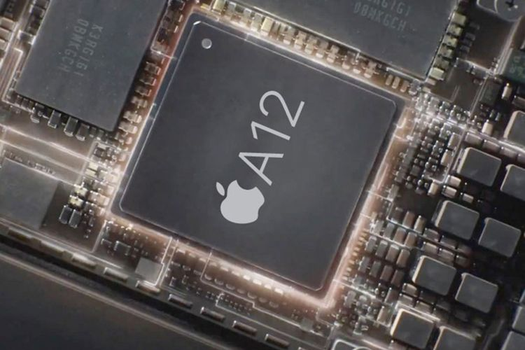 Ilustrasi chip Apple A12 Bionic.