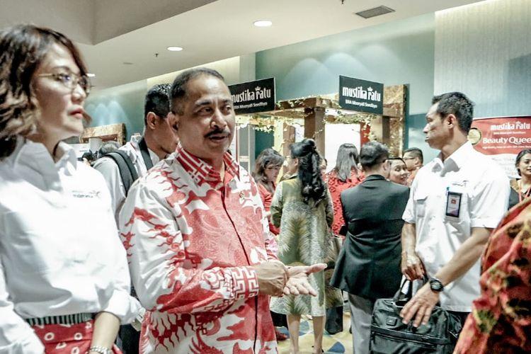 Menteri Pariwisata (Menpar) Arief Yahya saat menghadiri peluncuran Hari Belanja Diskon Indonesia (HBDI) dan Parade Merk Lokal Indonesia 2019 di Senayan City, Jakarta, Kamis (15/8/2019).