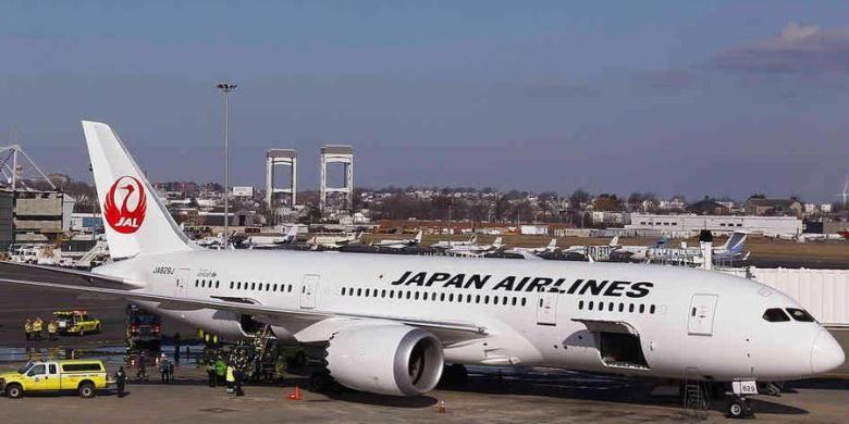 Pesawat Boeing 787 Dreamliner milik Japan Airlines harus membatalkan penerbangannya ke Tokyo, setelah mengalami kebocoran bahan bakar sesaat sebelum tinggal landas dari bandara Logan, Boston, AS.