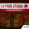 INFOGRAFIK: 14 Poin Aturan PPKM Darurat Jawa-Bali