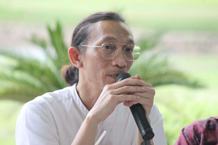 Anto Hoed pada acara Testimoni dan Talkshow bersama Public Figure di Jakarta Golf Club, Jakarta, Rabu (11/3/2020).