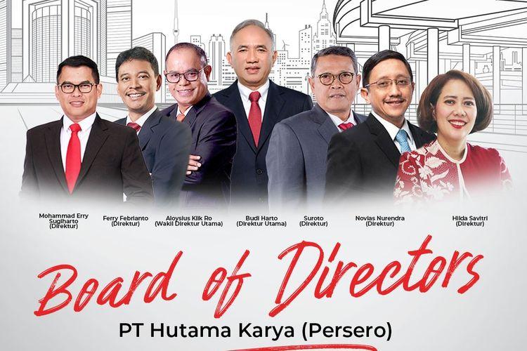 Jajaran dewan direksi baru PT Hutama Karya (Persero)