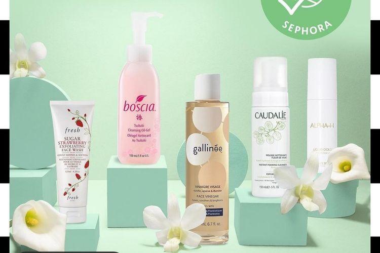 Beberapa produk perawatan kulit yang mendapat label Clean at Sephora.