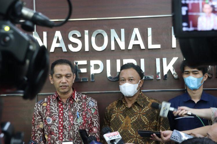 Wakil Ketua KPK Nurul Ghufron di Kantor Komnas HAM, Kamis (17/6/2021).
