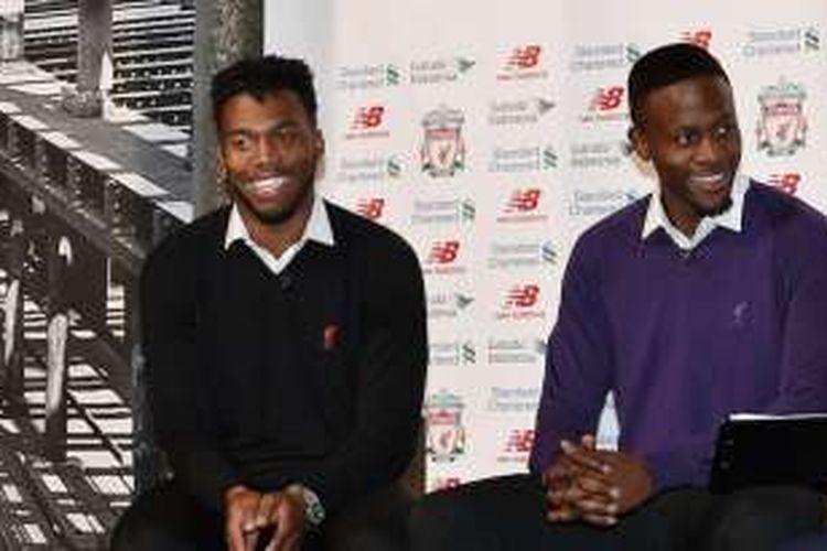 Dua penyerang tengah Liverpool, Daniel Sturridge (kiri) dan Divock Origi, tampil impresif dalam beberapa laga terakhirnya.