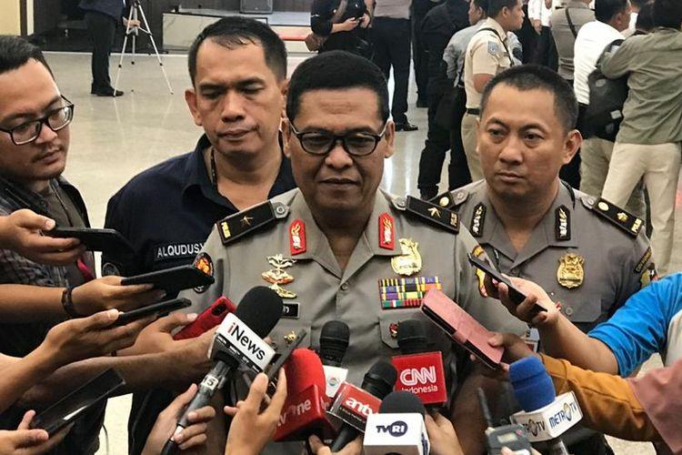 Kepala Biro Penerangan Masyarakat (Karopenmas) Divisi Humas Polri Brigjen (Pol) Argo Yuwono di Rupatama Mabes Polri, Jakarta Selatan, Selasa (11/2/2020).