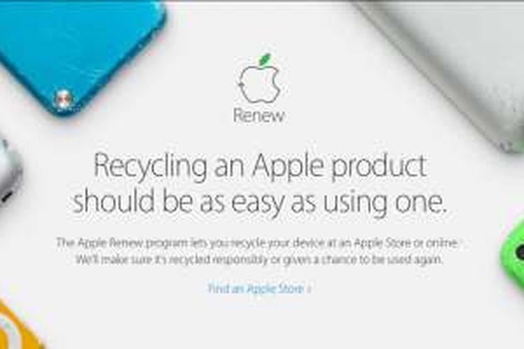 Laman program daur ulang Apple