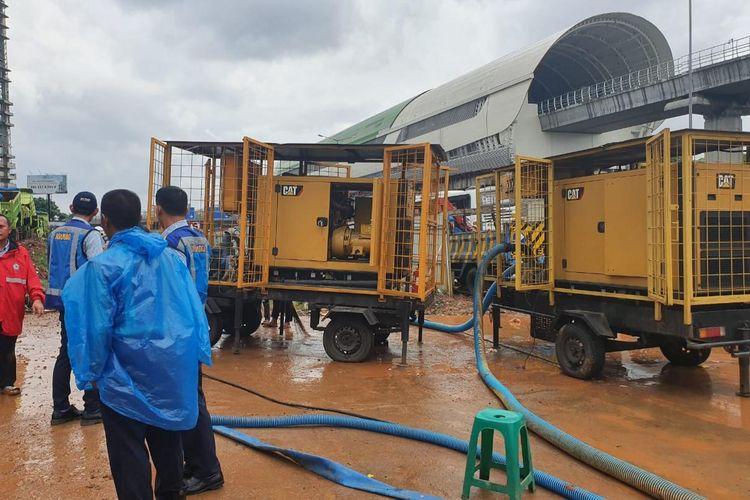 Jalan tol banjir, Jasa Marga siagakan alat penyedot air untuk mengatasi genangan