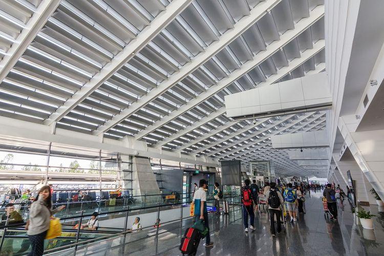 Bandara Internasional Taoyuan di Taipei, Taiwan.