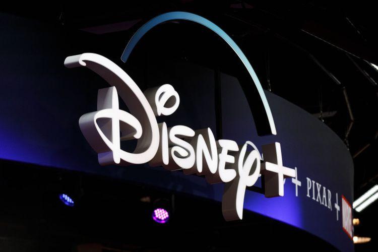 D23 Expo menampilkan logo Disney Plus.