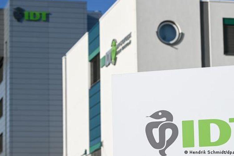 Kantor pusat IDT Biologika di Dessau.