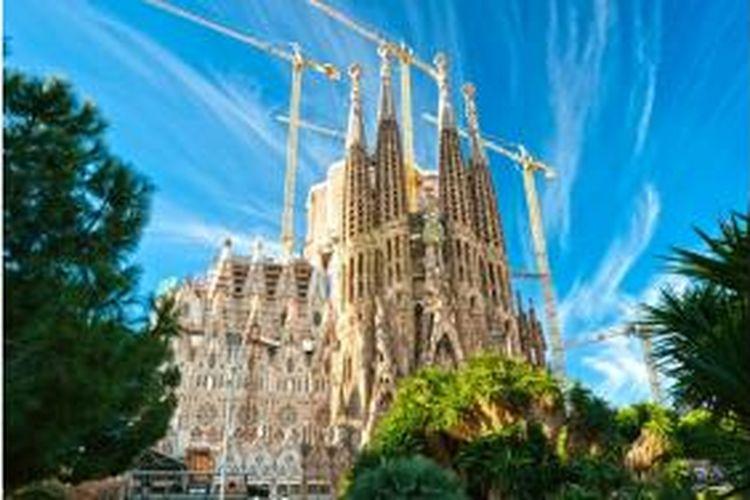 La Sagrada Familia, Barcelona, Spanyol.