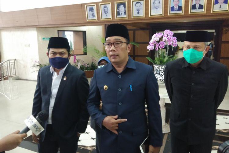 Gubernur Jawa Barat Ridwan Kamil saat ditemui di Gedung DPRD Jabar, Kota Bandung, Senin (23/11/2020).