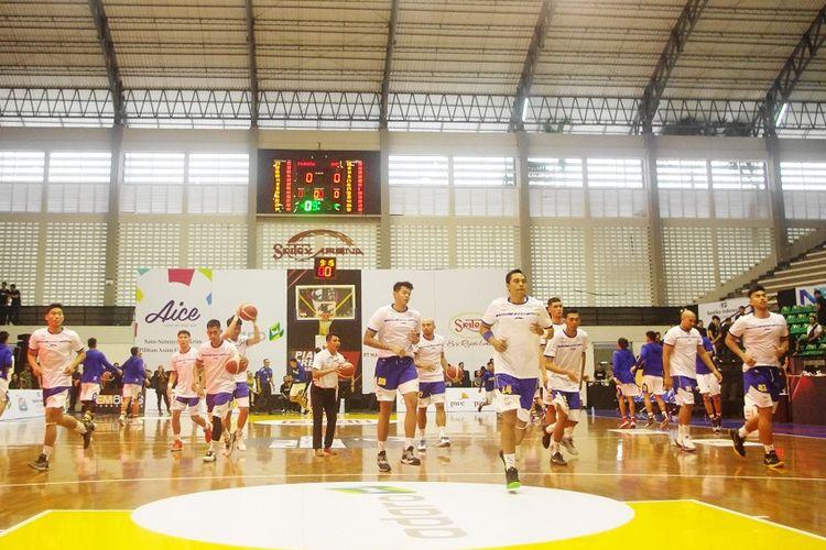 Satria Muda Pertamina, sang juara edisi perdana Piala Presiden Bola Basket yang digelar di GOR Sritex Arena, Solo, 20-24 Novermber 2019