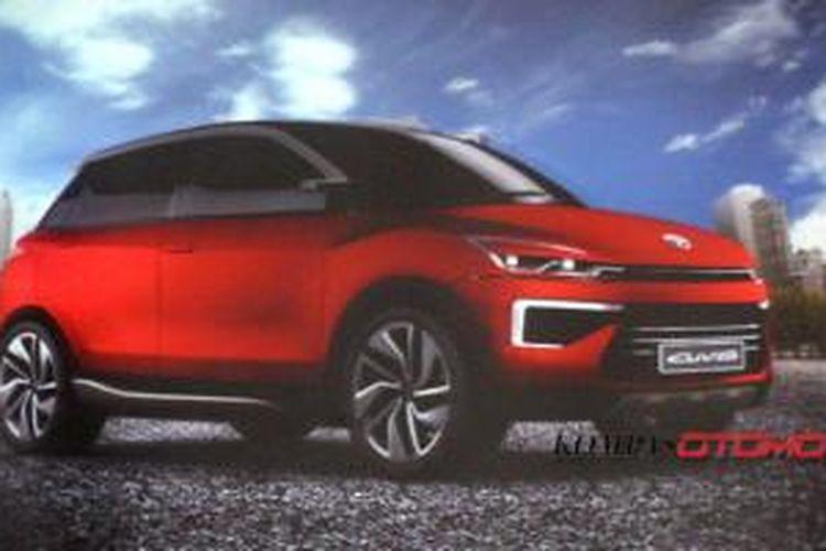 Konsep Daihatsu CUV-2 yang akan mejeng di IIMS 2014 hasil desain R&D PT Astra Daihatsu Motor.