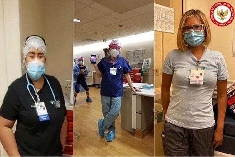 Perawat perempuan Indonesia memberikan sumbangsih di negara bagian California, Amerika Serikat.