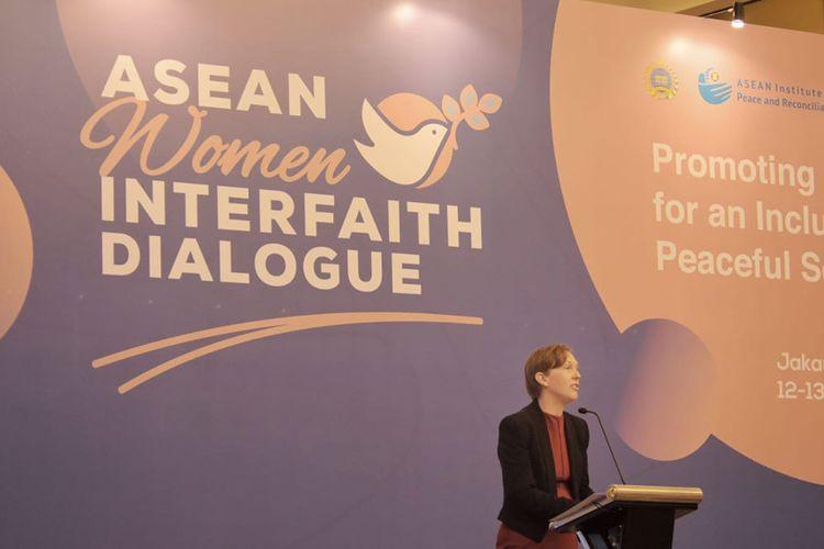 Salah satu sesi di forum ASEAN Women Interfaith Dialogue.