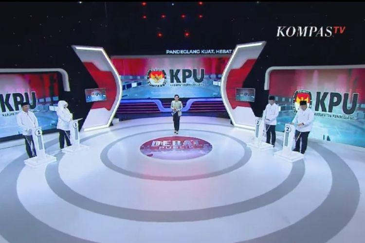 Debat Publik Perdana Kandidat Pilkada Pandeglang 2020, Senin (23/11/2020)