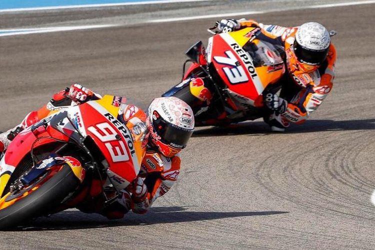 Alex Marquez pada seri pertama MotoGP 2020 di Sirkuit Jerez.