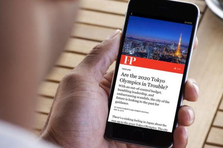 Instant Articles di Facebook mobile.