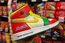 Pembuat Nike Air Jordan Bertema Indomie Ungkap Cara Pembuatan dan Perawatan