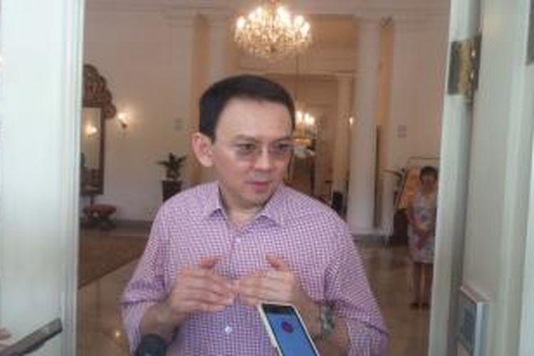 Gubernur DKI Jakarta Basuki Tjahaja Purnama di Balai Kota, Sabtu (28/11/2015)
