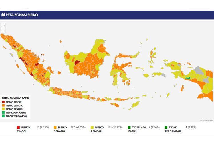 Zona merah dan zona hijau Indonesia