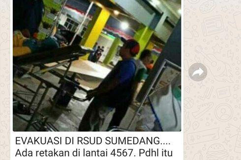 Hoaks Gedung RSUD Sumedang Retak-retak Pasca-Gempa Banten, Ini Kejadian Sebenarnya