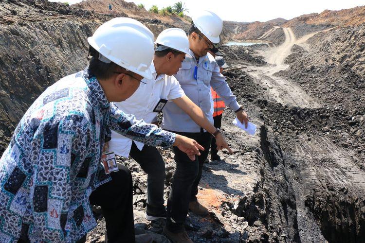 Penasehat KPK, Budi Santoso melakukan inspeksi kesejumlah perusahaan tambang di Kalsel Rabu (31/7/2019).