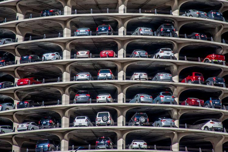 Ilustrasi parkiran mobil
