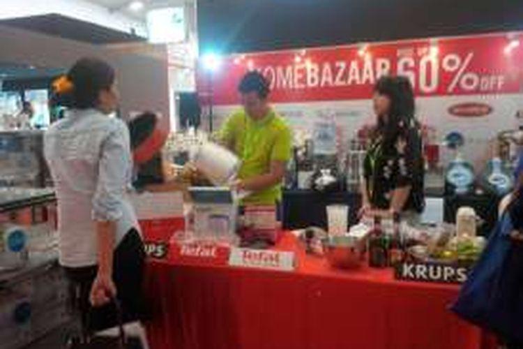 Salah satu booth yang ada di Homedec, ICE BSD City, Serpong, Kamis (29/9/2016).