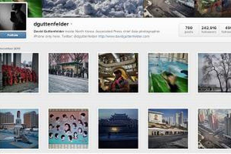 Akun Instagram milik David Guttenfelder yang dinobatkan sebagai fotografer Instagram terbaik versi majalah Time