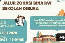 Dibuka Hingga Sore Ini, PPDB Jakarta Jalur Zonasi Bina RW Sekolah
