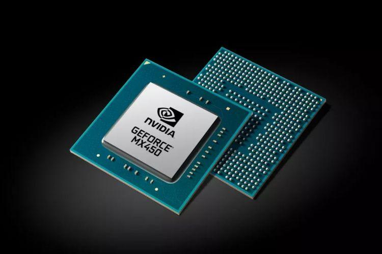 Kartu grafis Nvidia GeForce MX450.