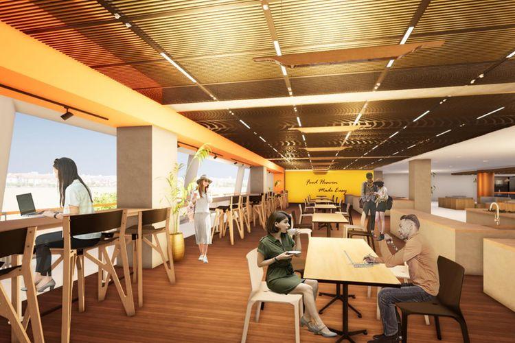 Area kantin akan dapat digunakan sebagai co-working space.
