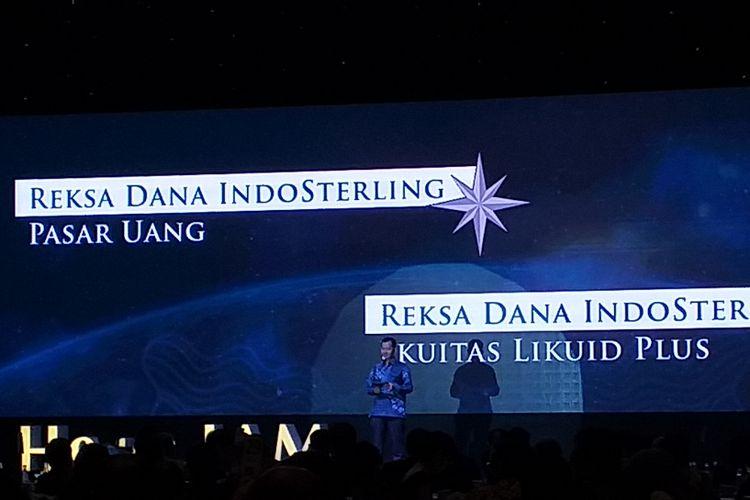 PT Indosterling Group meluncurkan Indosterling Aset Manajemen sekaligus dua produk reksa dana, yaitu Reksa Dana Indosterling Pasar uang dan Reksa Dana Indosterling Ekuitas Likuid Plus di Jakarta, Rabu (6/3/2019).