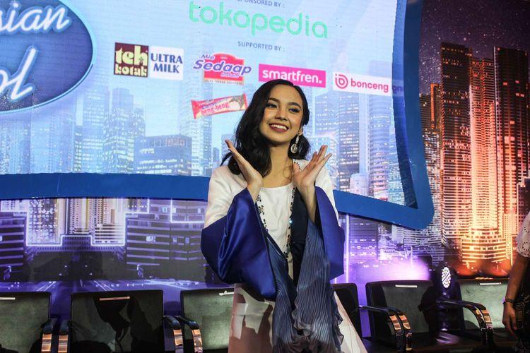 Lyodra saat di temui di Press conference Grand Final Indonesian Idol musim X yang diadakan di MNC studio tower, Kebon Jeruk, Jakarta Rabu ( 19/2/2020). Lyodra melaju ke babak Grand final.