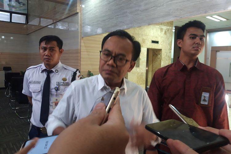 Sekretaris Menteri Koordinator Bidang Perekonomian Susiwijono di kantornya, Senin (20/1/2020).