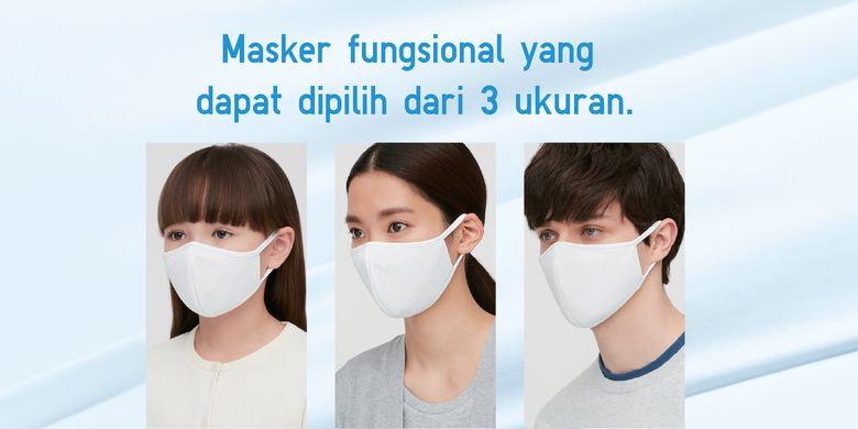 Masker AIRism dari Uniqlo.