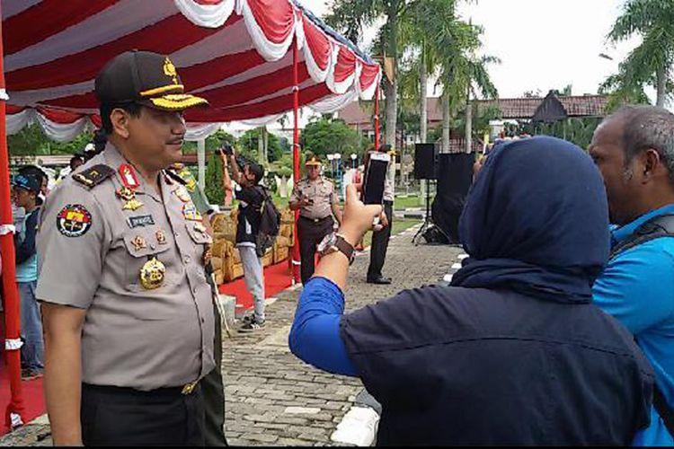 Brigjen (Pol) Rikwanto saat sesi wawancara dengan awak media di Pangkal Pinang.
