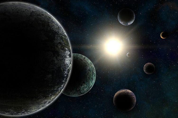 Ilustrasi exoplanet. Ilmuwan menyebut 'planet berlian' mungkin saja ada di antara luasnya galaksi ini.