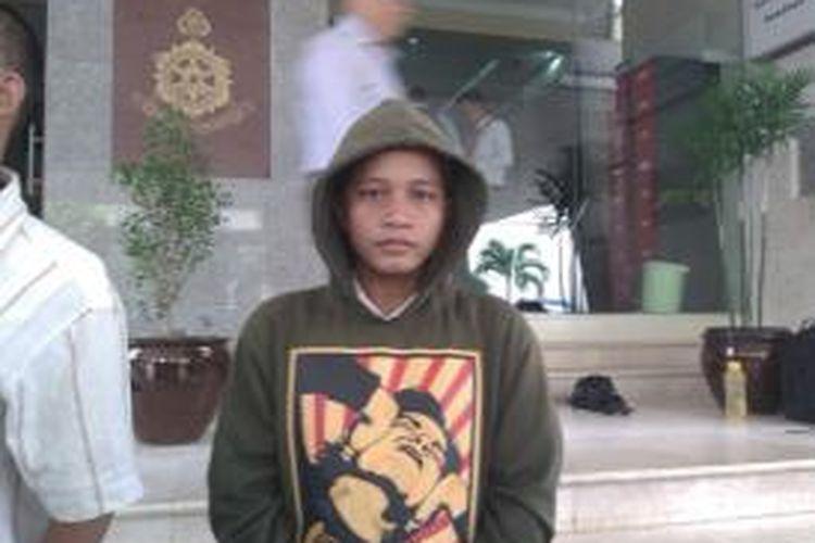 Muhammad Arsyad saat mendatangi Mabes Polri,Jakarta, Selasa (4/11/2014)